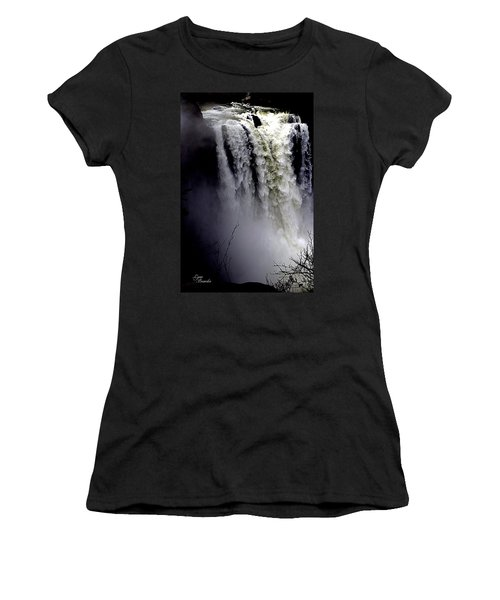 Snoqualmie Falls Women's T-Shirt (Athletic Fit)