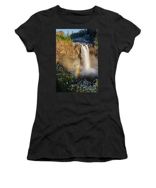 Snoqualmie Falls  Women's T-Shirt (Junior Cut) by Sonya Lang