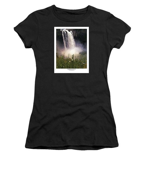 Snoqualmie Falls Wa. Women's T-Shirt (Junior Cut) by Kenneth De Tore