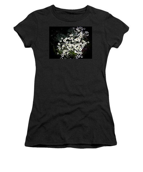 Women's T-Shirt (Junior Cut) featuring the photograph Snow In Summer by Joann Copeland-Paul