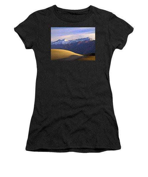Snow On The Grapevine Range.  Women's T-Shirt
