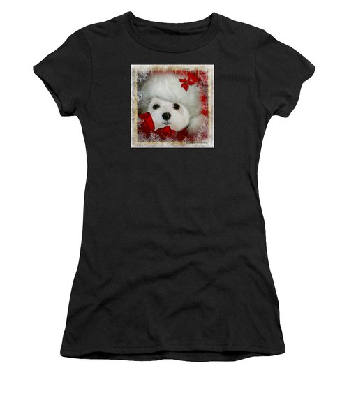 Snowdrop  And  Santa Hat Women's T-Shirt