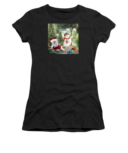 Snowdrop And The Snowman Women's T-Shirt