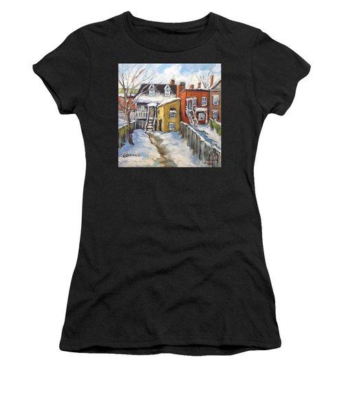 Snowed In Yards By Prankearts Women's T-Shirt