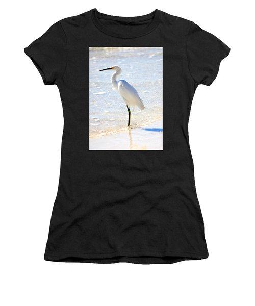 Egret On The Beach Women's T-Shirt