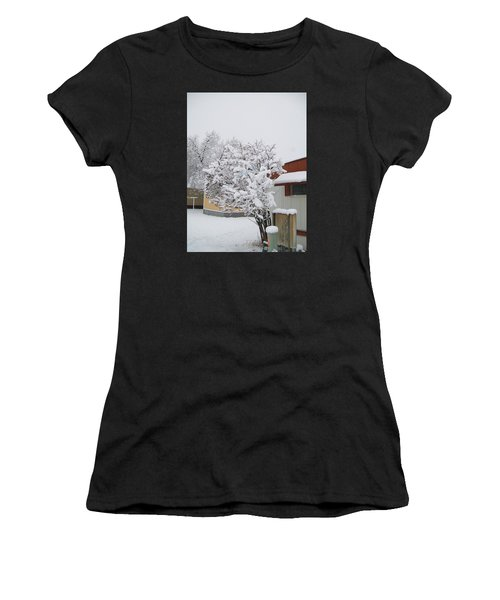 Snowy Lilac Women's T-Shirt (Athletic Fit)