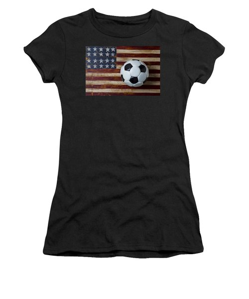 Soccer Ball And Stars And Stripes Women's T-Shirt