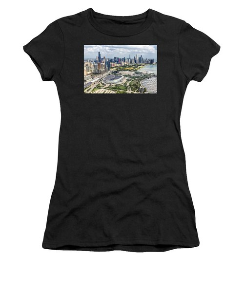 Soldier Field And Chicago Skyline Women's T-Shirt