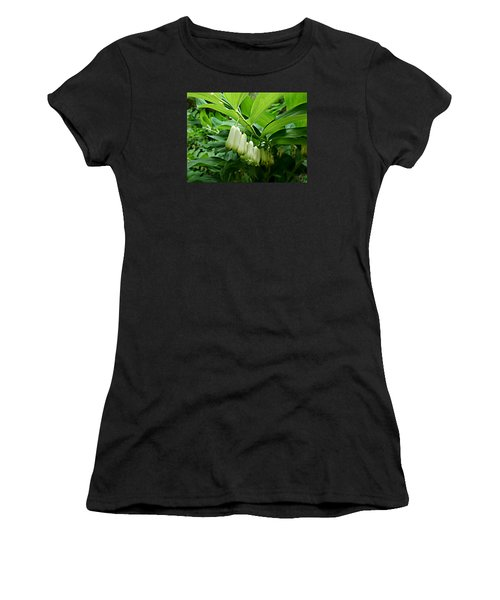 Women's T-Shirt (Junior Cut) featuring the photograph Wild Solomon's Seal by William Tanneberger