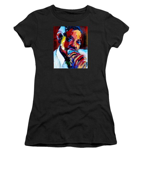 Women's T-Shirt (Junior Cut) featuring the painting Sonny Boy by Les Leffingwell