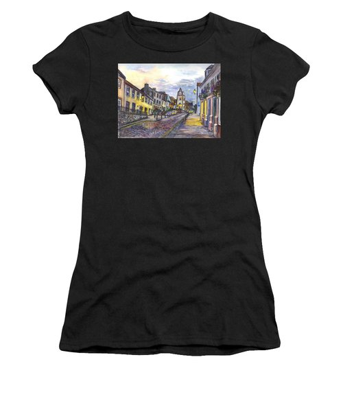 Nightfall At South Queensferry Edinburgh Scotland At Dusk Women's T-Shirt (Athletic Fit)