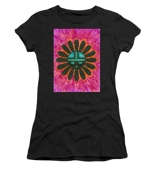 Southwest Sunburst Sunface Women's T-Shirt (Athletic Fit)