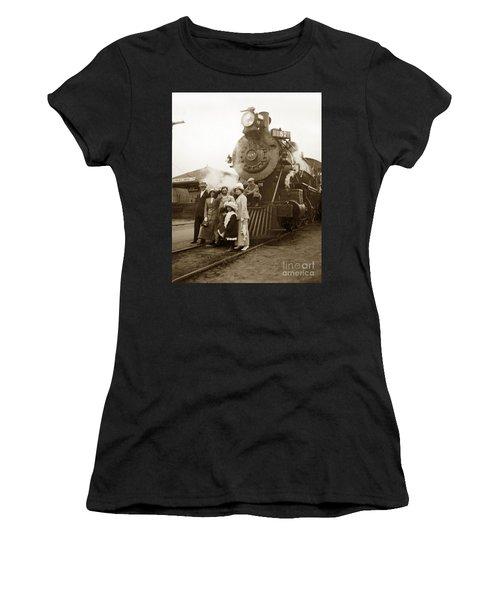 S P Baldwin Locomotive 2285  Class T-26 Ten Wheel Steam Locomotive At Pacific Grove California 1910 Women's T-Shirt