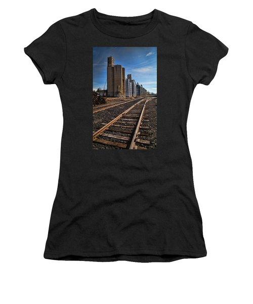 Spangle Grain Elevator Color Women's T-Shirt (Athletic Fit)