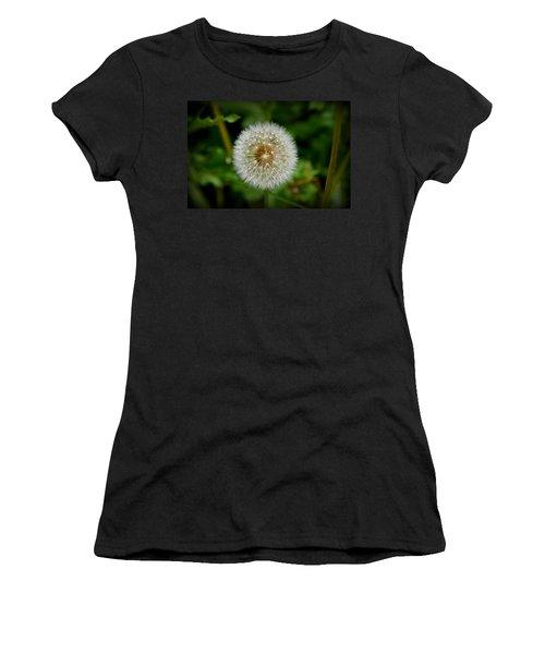 Women's T-Shirt (Junior Cut) featuring the photograph Sparkling Dandelion by Debra Martz