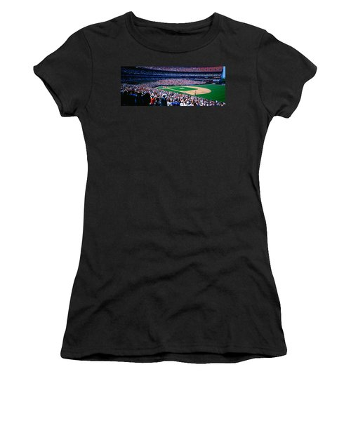 Spectators In A Baseball Stadium, Shea Women's T-Shirt (Athletic Fit)