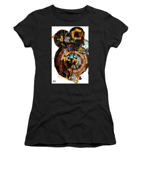 Women's T-Shirt (Junior Cut) featuring the painting Spherical Happiness Series - 994.042212 by Kris Haas