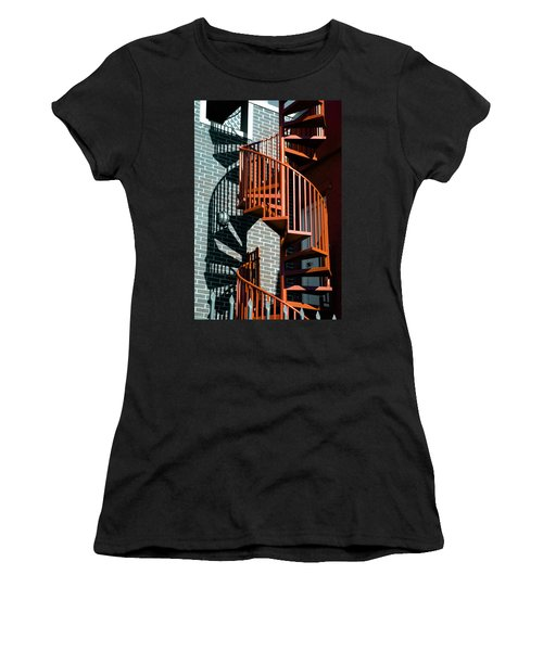 Spiral Stairs - Color Women's T-Shirt
