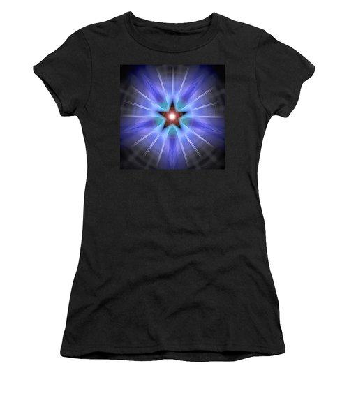 Women's T-Shirt (Junior Cut) featuring the drawing Spiritual Pulsar by Derek Gedney