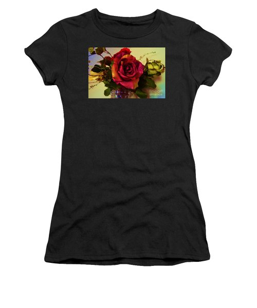 Splendid Painted Rose Women's T-Shirt (Athletic Fit)