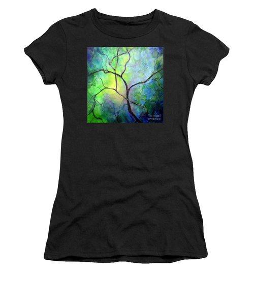 Spring Catawba Tree Women's T-Shirt (Junior Cut) by Jodie Marie Anne Richardson Traugott          aka jm-ART