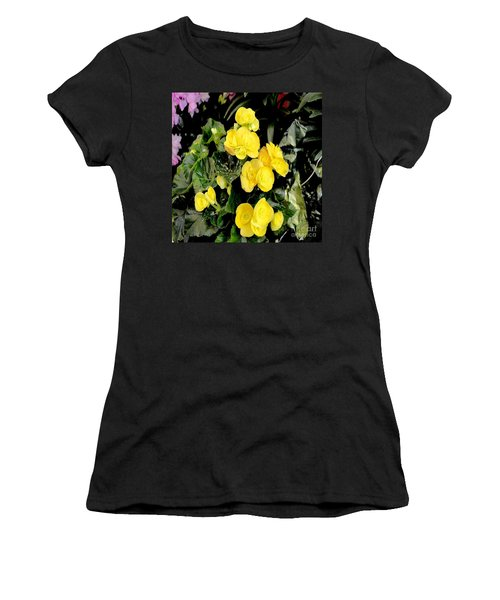 Women's T-Shirt (Junior Cut) featuring the photograph Spring Delight In Yellow by Luther Fine Art
