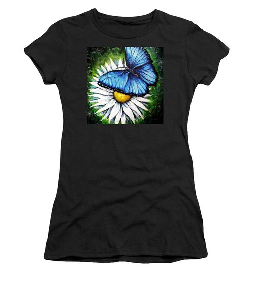 Women's T-Shirt (Junior Cut) featuring the painting Spring Has Sprung by Shana Rowe Jackson