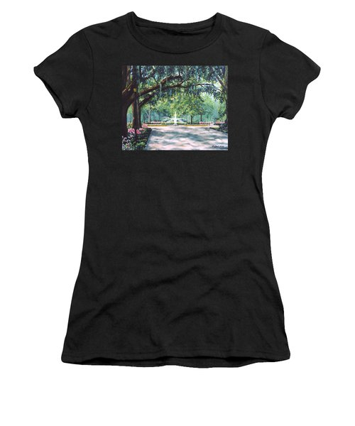 Spring In Forsythe Park Women's T-Shirt (Athletic Fit)