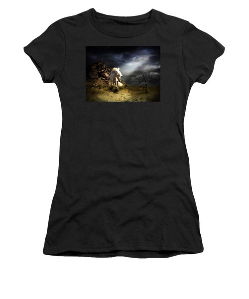 Spring In His Step Women's T-Shirt (Junior Cut) by Davandra Cribbie