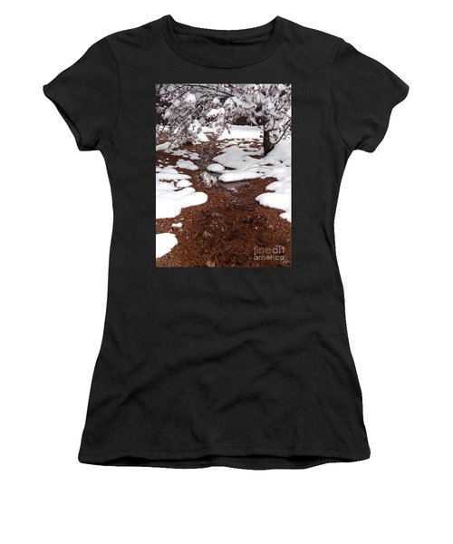 Women's T-Shirt (Junior Cut) featuring the photograph Spring Into Winter by Kerri Mortenson