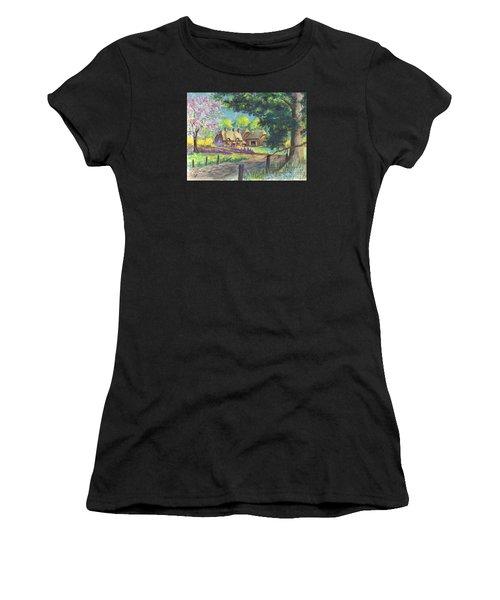 Springtime Cottage Women's T-Shirt (Athletic Fit)