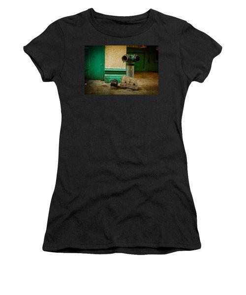 Sprinkler Green Women's T-Shirt (Athletic Fit)