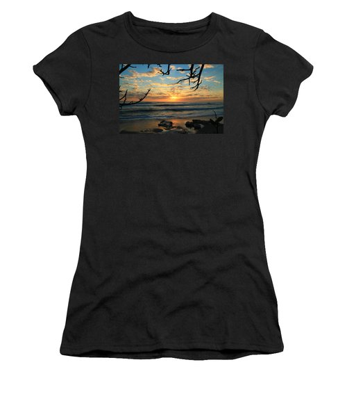 Spying At The Sun Women's T-Shirt (Junior Cut) by Catie Canetti