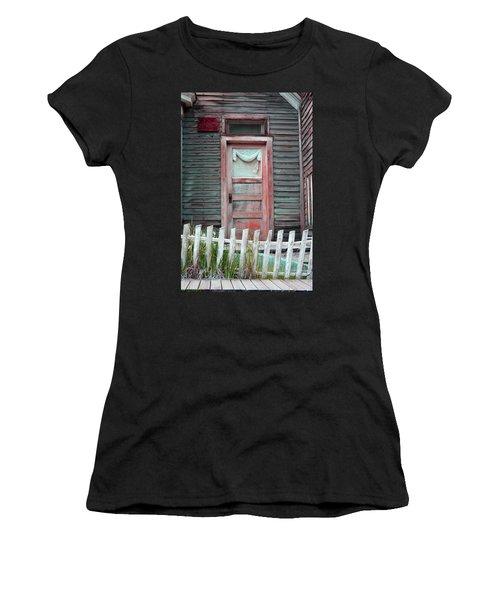 St. Elmo Door Salmon Women's T-Shirt (Athletic Fit)