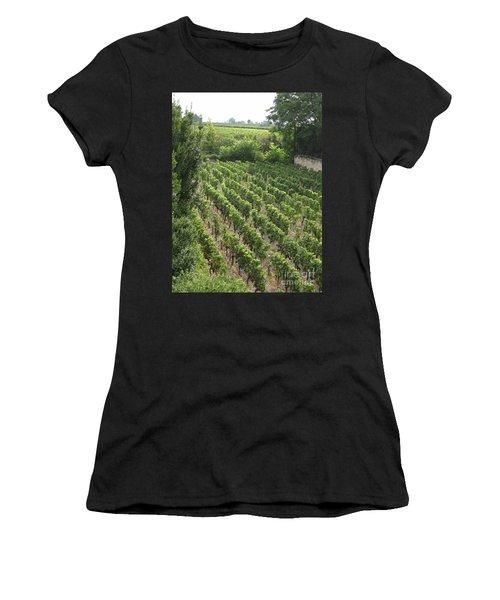St. Emilion Vineyard Women's T-Shirt (Athletic Fit)
