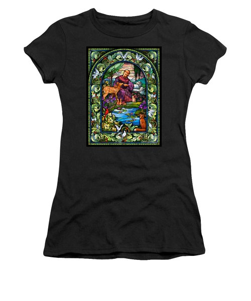 St. Francis Of Assisi Women's T-Shirt (Athletic Fit)
