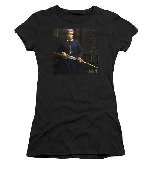 Stagecoach Mary Fields 20130518 Square With Text Women's T-Shirt