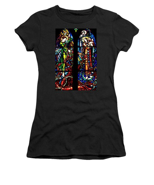 Stained Glass Window At Mont  Le Saint-michel Women's T-Shirt