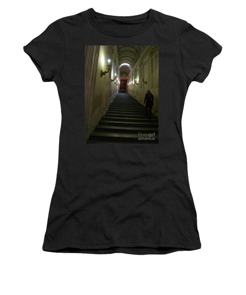 Women's T-Shirt (Junior Cut) featuring the photograph Stairway  by Robin Maria Pedrero