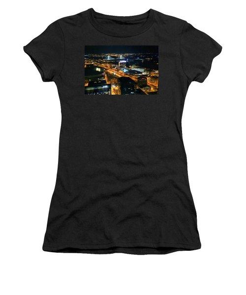 Stan Musial Bridge In St Louis Mo Dsc03215 Women's T-Shirt (Junior Cut) by Greg Kluempers
