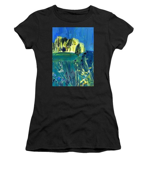 Stand Of Trees In Distance Women's T-Shirt (Athletic Fit)