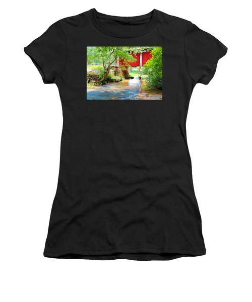 Standing By The River At Campbell's Bridge Women's T-Shirt