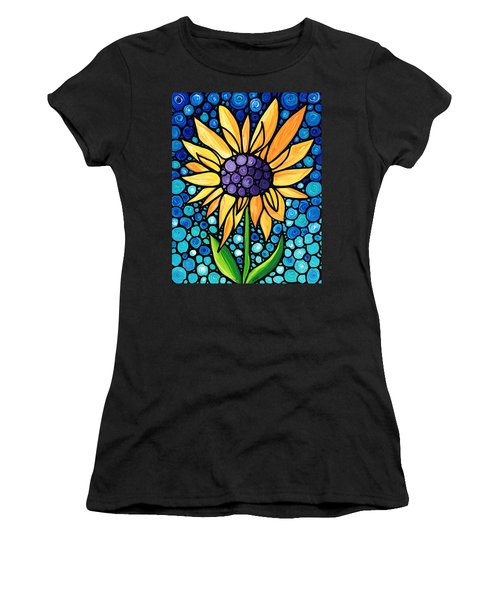 Standing Tall - Sunflower Art By Sharon Cummings Women's T-Shirt