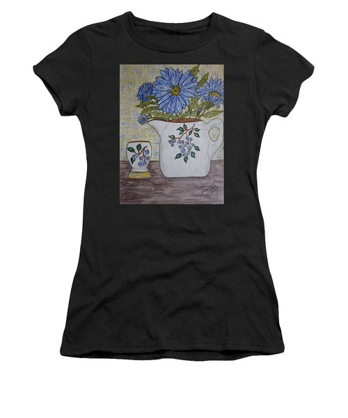 Stangl Blueberry Pottery Women's T-Shirt (Athletic Fit)
