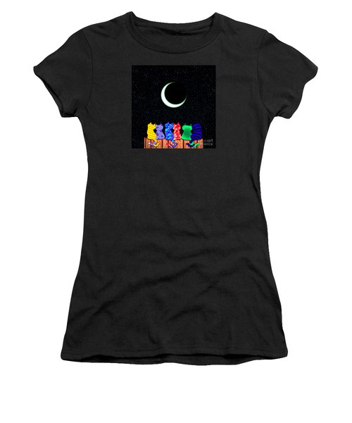 Star Gazers Women's T-Shirt (Junior Cut) by Nick Gustafson