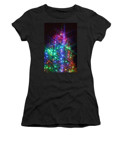 Women's T-Shirt (Junior Cut) featuring the photograph Star Like Christmas Lights by Patrice Zinck