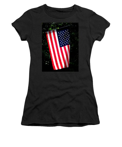 Star Spangled Banner Women's T-Shirt (Athletic Fit)