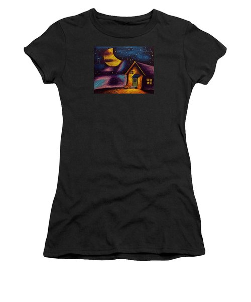 Starry Night Women's T-Shirt (Junior Cut) by Salman Ravish