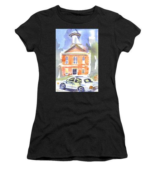 Stately Courthouse With Police Car Women's T-Shirt