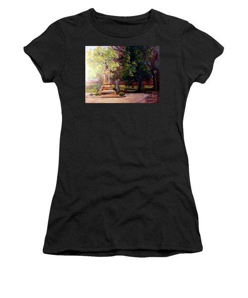 Statue In  Landscape Women's T-Shirt (Athletic Fit)